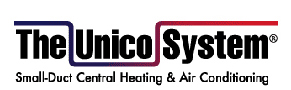 the Unico System small-duct central heating and air logo