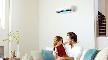 Ductless Heating System in Home