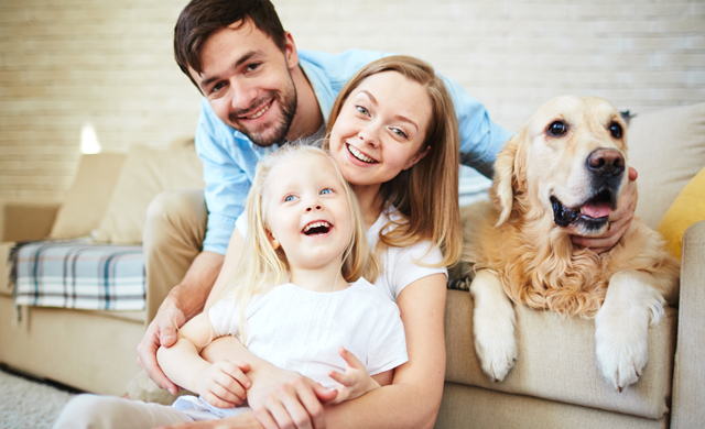 Family enjoying improved indoor air quality