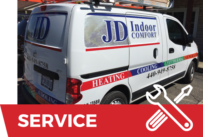 Service Button JD Indoor Comfort