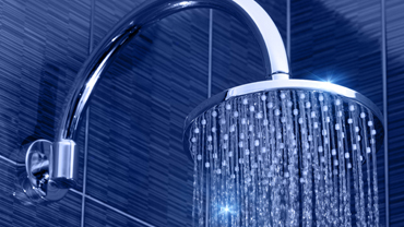 Shower head with warm water
